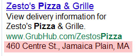 Example Of Google AdWords Location Extension