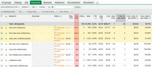 The new 'Pos. Pref' column where you specify your target ad positions. Specify your target positions using the performance data from Google Analytics as shown in the previous pic.